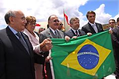 Fotos produzidas pelo Senado (Senado Federal) Tags: projetojovenssenadores2009 hasteamentodabandeira bandeiradobrasil senadorjosésarneypmdbap senadorflexaribeiro brasília df brasil bra