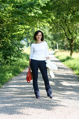 Styling a basic white top and denim: Marks & Spencer challenge - Annette, Lady of Style (Not Dressed As Lamb) Tags: white fashion blog top style blogger marks denim spencer fashionista