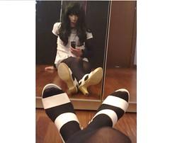 Need an hair brush (Julia Cool) Tags: stockings high cool julia tights tgirl transgender sissy tranny transvestite heels hosiery trans pantyhose trap nylon shemale calze strumpfhosen collant