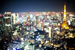 City Bubble I (OrangeK7) Tags: tokyo nightview nightscape burr bokeh abstract tower nikon