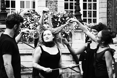 8 songs (zimpetra) Tags: belgium hasselt theater juggling blackwhite hair