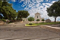 cagliari (heavenuphere) Tags: cagliari sardegna sardinia sardinie italia italy europe island city church steps trees clouds 24105mm