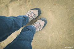 (Rhia.photos) Tags: stand standing sand beach shoes capture perspective angle jeans blue colours light image shot photo photograph photography olang olangshoes trekkingshoes outdoor wales southwales porthcawl