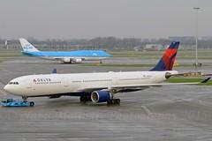 "Delta Air Lines N813NW Airbus A330-323X cn/799 ""3313"" @ EHAM / AMS 29-12-2015 (Nabil Molinari Photography) Tags: delta air lines n813nw airbus a330323x cn799 3313 eham ams 29122015"