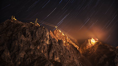 R O P E W A Y (i_xab) Tags: ropeway mountains mountain innsbruck nordkette startrails stars night canon 6d