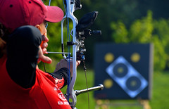 Gladys Willems - Team Belgium (Owen J Fitzpatrick) Tags: ojf people photography nikon fitzpatrick owen j joe pretty pavement chasing d3100 ireland editorial use only ojfitzpatrick eire dublin republic city tamron unposed social face candid candidphotography candidphoto natural archer archery kit bow compound sport world championship field competition nations international curved killruddery house garden estate finetuned gladys willems belgium red adjustments bowhunter sifa ifaf championships 2016 bowhunting