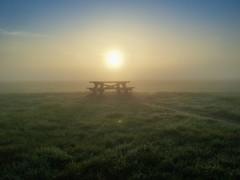 Hazy morning sun (Jan Moons) Tags: magical atmosphere morning serenity field table mist fog sunrise samsungs4mini