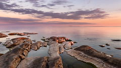 Distant Island (Peter Vestin) Tags: nikondf sigma24mmf14dghsmart siruin3204x siruik30x adobecreativecloudphotography topazlabscompletecollection hammarsydspets hammar vrmland sweden vnern nature landscape seascape sunset