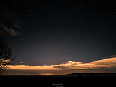 Nightsky (JaroslawG) Tags: sky stars light pollution night fog clouds city bremen germany