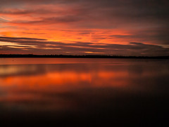 Sunset over the lake (martynmulligan) Tags: nikon longexposure longexpo sunset