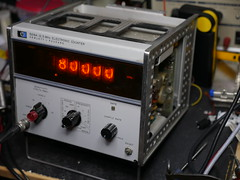 HP 5216A 12.5MHz Electronic Counter (anachrocomputer) Tags: dmcg7 1235mm f28 hp 5216a counter frequency meter timer nixie test equipment repair restoration