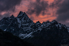 Kavkaz () Tags: georgia svaneti kavkaz mazeri mountains bigmountain sunset clouds rocks beautiful photography snow winter winterbeauty                mount saqartvelo