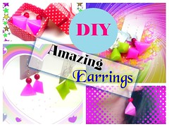 DIY Amazing Earrings Out Of A Drinking Straw | Recycled Jewelry ! (mateiandreeamatei) Tags: diy amazing earrings out of a drinking straw | recycled jewelry