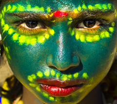Face Painting 02 (Boodesh Ganeshkumar) Tags: face portrait color colorful yellow avatar girl eyes nose pretty look painting art