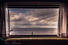 raining days (klausi1983) Tags: rain window water ocean sky clouds light sunset sun home travel holiday