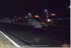 Eurostar Class 373 set 3005 in 6X73 at Huntingdon, en-route to EMR, Kingsbury for scrap, October 27th 2016 a (Bristol RE) Tags: eurostar 373 class373 45201 huntingdon scrap emr kingsbury europeanmetalrecycling night fog 6x73 3005 66704 gbrf