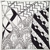 #zentangle no. 8, used the random button in the #doodlepatterns iOS app this morning. (kurki15) Tags: square squareformat zia zentangle zendoodle iphoneography instagramapp uploaded:by=instagram zentangleinspiredart