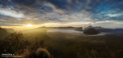 New Day, New Hope (t3cnica) Tags: travel panorama sun mountain nature fog clouds sunrise indonesia volcano landscapes intense glow sunburst epic dri bromo mountbromo travelphotography dynamicrangeincrease mountsemeru exposureblending digitalblending cemorolawang bromotenggersemerunationalpark mountbatok