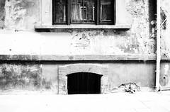 Windows mirroring (Christian Koehn) Tags: blackandwhite bw reflection window wall facade mirror fenster wand fassade crumblingplaster schwarzweis brckelnderputz