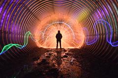 Reflecting. (martbarras) Tags: lightpainting cold reflections reflecting hit nikon tunnel run tokina torch quick cathode woolie wirewool sooc d7100 1116mm lpuk martbarras riftlabs kicklights