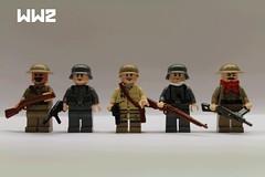WW2 figbarf + update (Crazedtiger) Tags: war lego military bricks battle ww2 soldiers minifig update figures minifigure brickarms figbarf