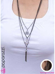 5th Avenue Black Necklace K3 P2130A-2