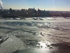 Frozen East River (FlySi) Tags: city nyc water brooklyn river boats cityscape eastriver