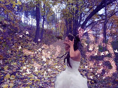 forest magic :) My first photoshop (mveronika66) Tags: new wedding light woman love girl beautiful leaves fashion forest photoshop canon lens happy 50mm prime bride photo flickr dress magic style pic deer explore fairy dslr capture compositon 70d