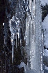 Icicle shapes (stuant63) Tags: winter cold ice water scotland frozen angus freeze icicle cairngormsnationalpark corriefee stuant63 stuartanthony