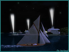 Dans la nuit (Tim Deschanel) Tags: life sea mer night john boat tim sailing magic bistro sl second blake bateau nuit voile deschanel croisire jackals kelty joly keltyana