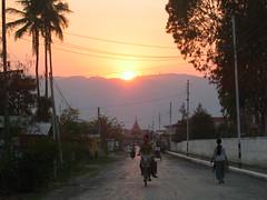 Sun Setting over Nyaungshwe Myanmar
