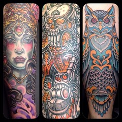 More fun ones from 2014, thanks to all my awesome clients!!!!#pooch_art #alteredstatetattoo
