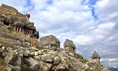 Sarcophagi on the slope of Tlos (VillaRhapsody) Tags: site roman historical fethiye lykia lycian tlos preroman ansient