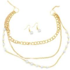 5th Avenue White Necklace P2620-4