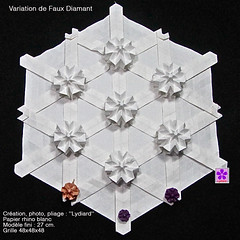varFxDiam (LydiaDiard paperfolledingue) Tags: art geometric paper 3d origami hexagon papier tessellation tesselation paperfolding volume lydiard géométrique pliage hexagone paperfold pliagedepapier lydiadiard paperfolledingue