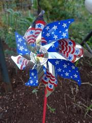 bird garden pinwheel deterrent