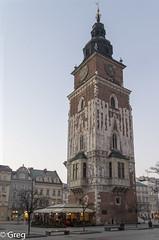 Krakow (Gregouill) Tags: tour poland polska krakow horloge cracovie février pologne 2015 201502 hiver2015