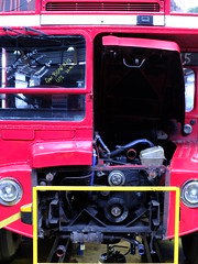 Routemaster Engine (failing_angel) Tags: london routemaster olympicpark busgarage tfl transportforlondon westham newham waterdenroad brownfieldsite stagecoachbus pringlerichardssharrattarchitects stratfordgarage 280614 westhambusgarage parcelforcedepot