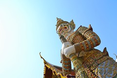 YOU SHALL NOT PASS! (Renato Di Raimondo) Tags: sky statue architecture thailand temple colours you bangkok pass demon guardian shall guardiano sentinel tempio demone