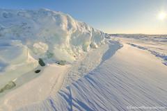 Lake Michigan ... ice pac gems (Ken Scott) Tags: winter usa ice michigan bluesky lakemichigan greatlakes sunburst february hdr freshwater blueice leelanau 2015 windpatterns 45thparallel shelfice anchorice kenscottphotography kenscottphotographycom