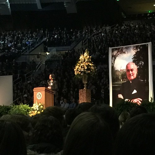 """Condoleezza Rice (@condoleezzarice) on Fr. Ted: """"Somehow his touch was so personal that students that met him only once, or maybe never at all, knew him, and they loved him."""""""