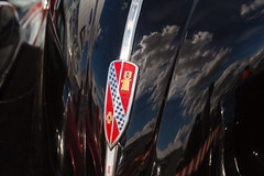 2012-09-07_Canon_4412 (l0pht) Tags: sky reflection clouds nameplate carhood