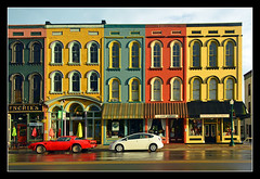 Evening Light on Depot Town's Historic Storefronts (sjb4photos) Tags: michigan ypsilanti storefronts depottown toyotaprius washtenawcounty pontiacfirebird visipix