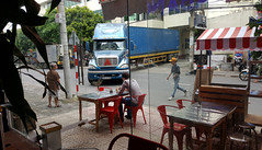 No sweat (Roving I) Tags: street transport vietnam trucks cafes danang logistics factories reversing shippingcontainers backing plasticfurniture cabanon