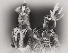 Little Indians (marianna_a.) Tags: boy two blackandwhite canada festival kids festive little native indian young monochromatic powwow p2550057