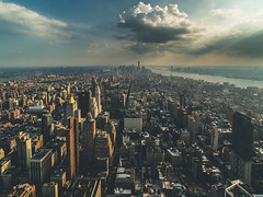 New York, New York (Piotr_PopUp) Tags: new york nyc newyorkcity usa us downtown cityscape unitedstates manhattan wideangle fromabove empirestatebuilding lowermanhattan 14mm samyang 1worldtradecenter oneworldtradecenter