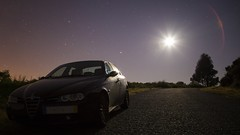 Full Moon nights (JLscape) Tags: road nightphotography trees sky moon portugal car skyline night canon landscape nightscape outdoor fullmoon astrophotography lensflare flare serene nightsky fullframe alfaromeo highiso minho landscapephotography cuoresportivo outdoorphotography landscapephoto canon6d