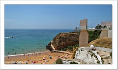 Playa de Albufeira-Portugal (Lourdes S.C.) Tags: costa portugal playa ascensor albufeira costaatlntica oceanoatlntico