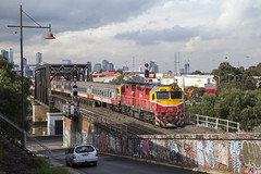 "2016-07-08 VLine N471 Bunbury St 8615 (Dean ""O305"" Jones) Tags: street set train au n australia melbourne victoria vic passenger bunbury albury footscray vline 8615 n471"