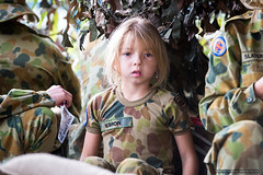 Cadet 4 - young - Jacaranda Parade 2015 (sbyrnedotcom) Tags: 2015 people events grafton jacaranda parade rural town young girl cadet army australian camouflage nsw australia